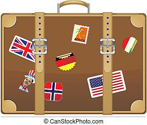utazás, bőrönd