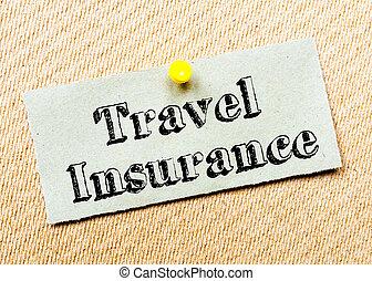 utazás biztosítás, üzenet