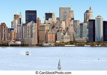 utazás, fénykép, közül, new york, -, manhattan