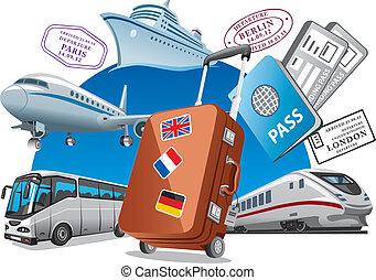 utazás, fogalom, szolgáltatás