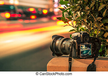 utazás, fotográfia, cocept