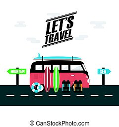 utazás, furgon