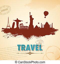 utazás, háttér