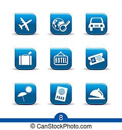 utazás icons, no.8..smooth, sorozat