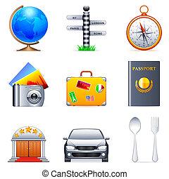utazás, icons.