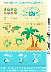 utazás, infographic, template.