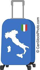 utazás, olaszország, ábra