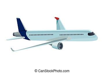 utazás, repülőgép, ikon
