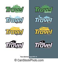 utazás, vektor, tervezés, ügynökség, logotype