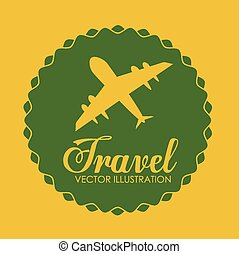 utazás, vektor, tervezés, illustration.
