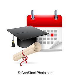 utbildning, tid, ikon