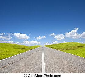 utca, és, zöld