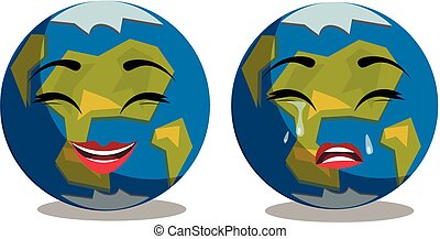 ute earth planet in different emotions