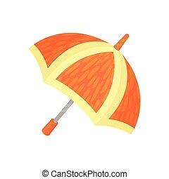 ute orange umbrella vector Illustration on a white background