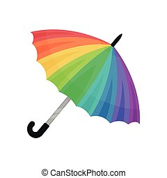ute rainbow umbrella vector Illustration on a white background