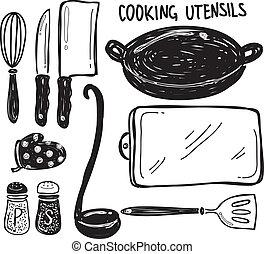 utensílio, cozinhar
