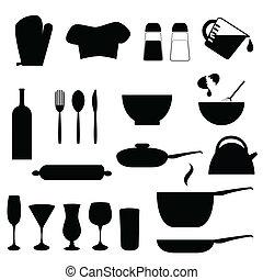 utensílios, cozinha