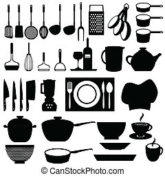 utensílios, ferramentas, cozinha