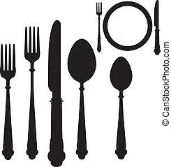 utensile, vettore, collocamento