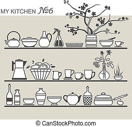 utensili, cucina, #6, mensole