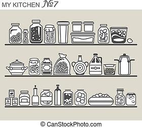 utensili, cucina, #7, mensole