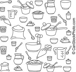 utensili, vettore, illustrazione, cucina