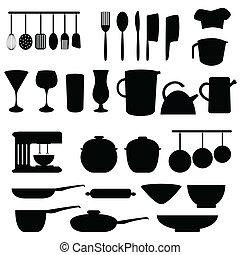 utensilios, herramientas, cocina