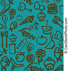utensils and food daly wallpaper
