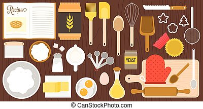 utensils and ingredients for bakery