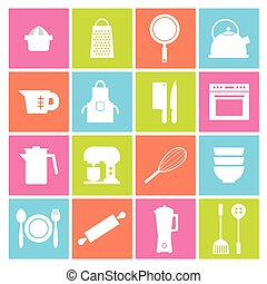 Utensils Icons Set.