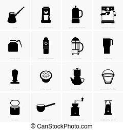 utensils, kaffe