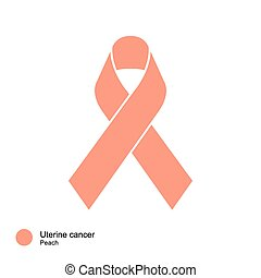 uterine cancer ribbon - image of Awareness Ribbons Color &...