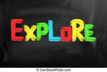 utforska, begrepp