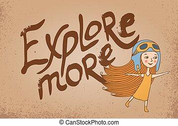 utforska, kort, mer
