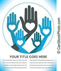 utile, uni, mains, design.