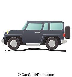 utilidade, desporto, caricatura, ilustração, vehicle.