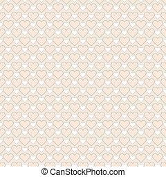 utilisé, booking., sur, modèle, seamless, arrière-plan., romantique, impression, vecteur, envoyer à la casse, beau, hearts., papier, texture, être, ou, boîte, interminable, illustration., tissu
