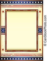 utilisé, cadre, américain