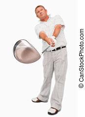 utilisé, club, être, golf