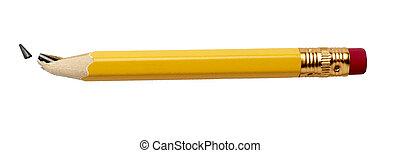 utilisé, crayon cassé, education, business