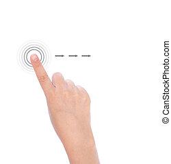 utilisé, multi-touch, main, gestes, téléphone, tablettes,...