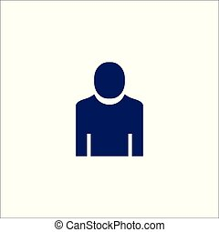 utilisateur, icône, isolé, symbole., signe