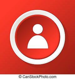 utilisateur, rouges, icône