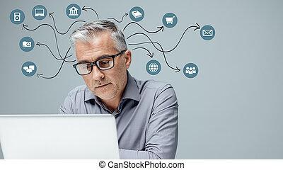 utilisateur, technologie, expérience