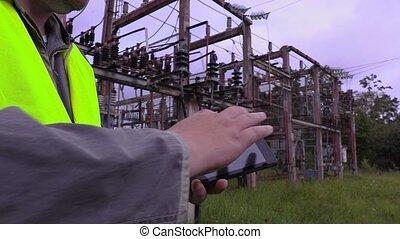 utilisation, électricien, pc tablette