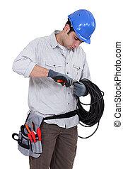 utilisation, électricien, pinces