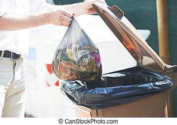 utilisation, リサイクル, 屑, ごみ, 別
