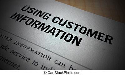 utilisation, client, information