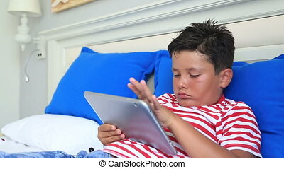 utilisation, enfant, informatique, tablette, numérique
