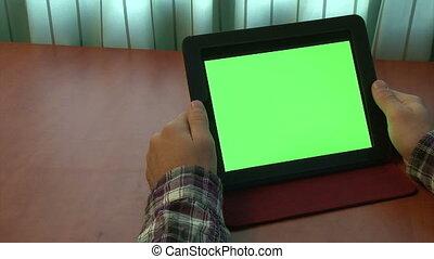 utilisation, homme, tablette, numérique